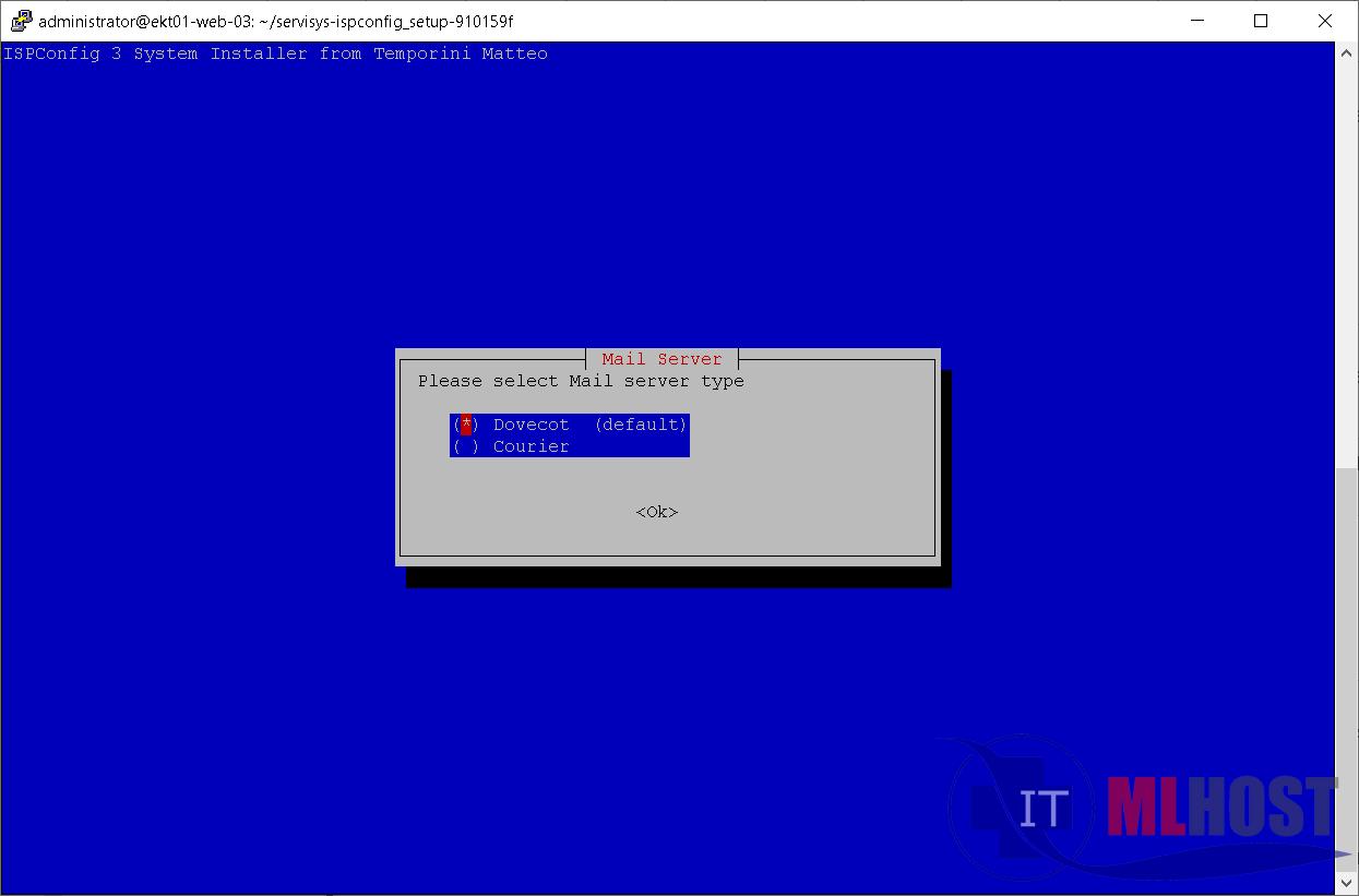 Как установить почтовый сервер DoveCot на хостинге с ISPconfig3