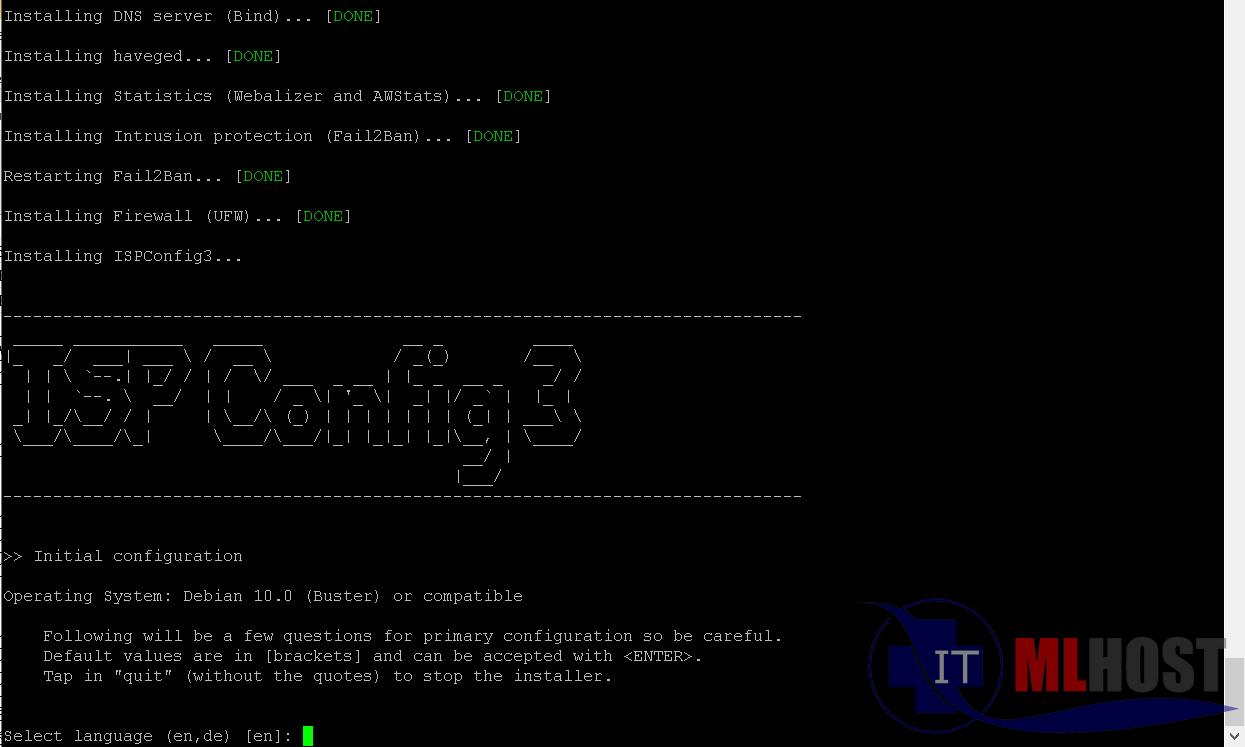 ISP Config 3 installation process