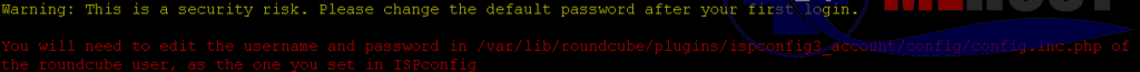 Security Risk ISP Config